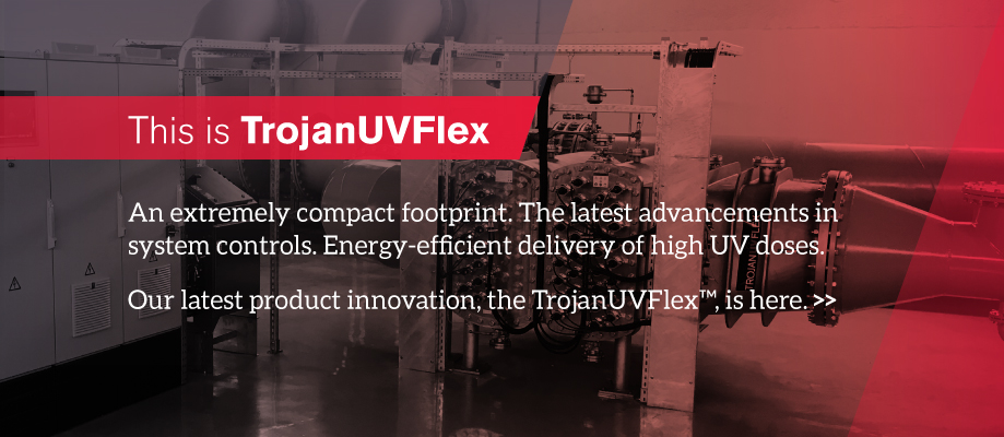 Offering the latest advancements in system controls to optimize performance, operating costs and regulatory reporting, the TrojanUVFlex performs both UV disinfection and UV-oxidation.
