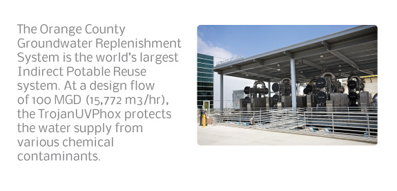 The Orange County Groundwater Replenishment System is the world's largest Indirect Potable Reuse system.